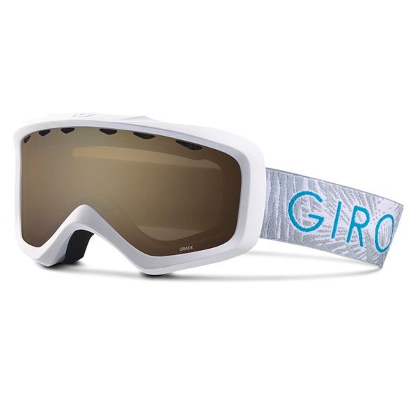 키즈 지로 유스 그레이드 고글 #BGO702WH 1718 GIRO YOUTH GRADE WHITE PALM/AMBER ROSE