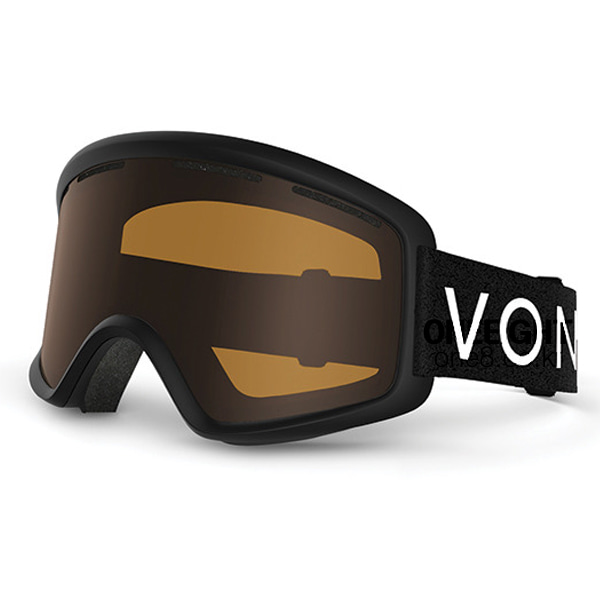 본지퍼 비피 고글 #BV4702A6 1718 VONZIPPER BLACK SATIN/BRONZE