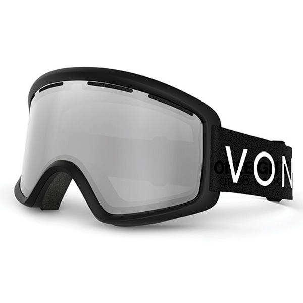 본지퍼 비피 고글 #BV4702B5 1718 VONZIPPER BLACK SATIN/GREY CHROME