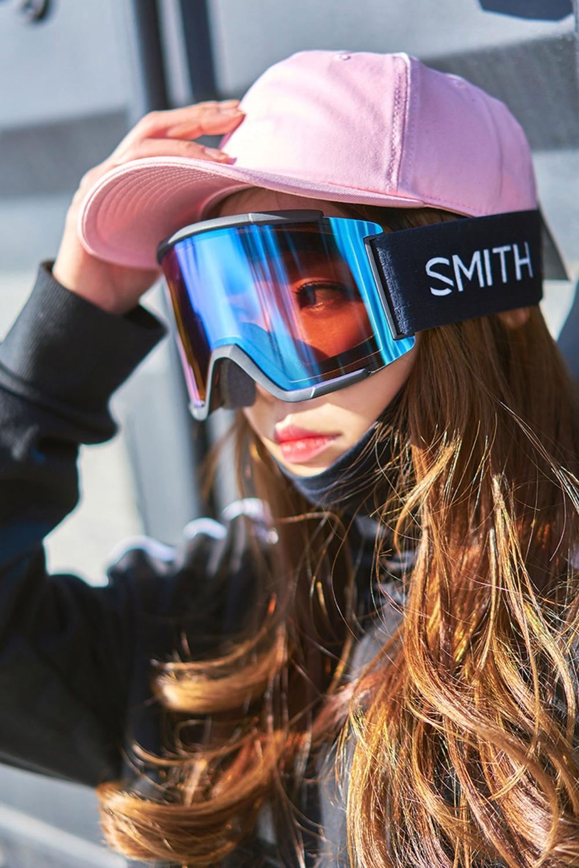 2021 스미스 변색 고글 스쿼드XL 아시안핏 2021 SMITH SQUAD XL_BLACK/PHOTO ROSE FLASH+CLEAR_남녀공용/주야겸용/추가렌즈/변색렌즈_DBSM019BK
