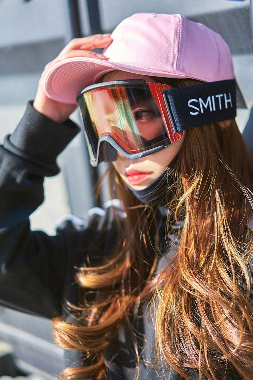 2021 스미스 고글 스쿼드 아시안핏  2021 SMITH SQUAD_BLACK-RED SOLX MIRROR+CLEAR_미러렌즈/추가렌즈/아시안핏/남녀공용_DBSM022BK