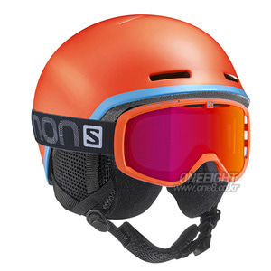 살로몬 키즈 헬멧 유스 그롬  #FSA705OR / FLUO ORANGE/BLUE SALOMON YOUTH GROML37773400