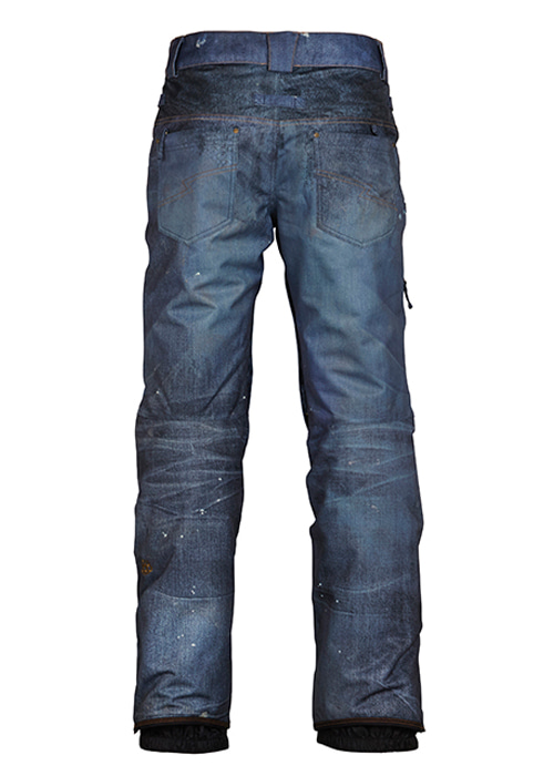육팔육/686 보드복 어센틱 디컨스트럭티드 데님 인슐 팬츠 #969704IN / INDIGO DENIM SUBLIMATION 686 AUTHENTIC DECONSTRUCTED DENIM INSULATED PANT KCR209-IDG