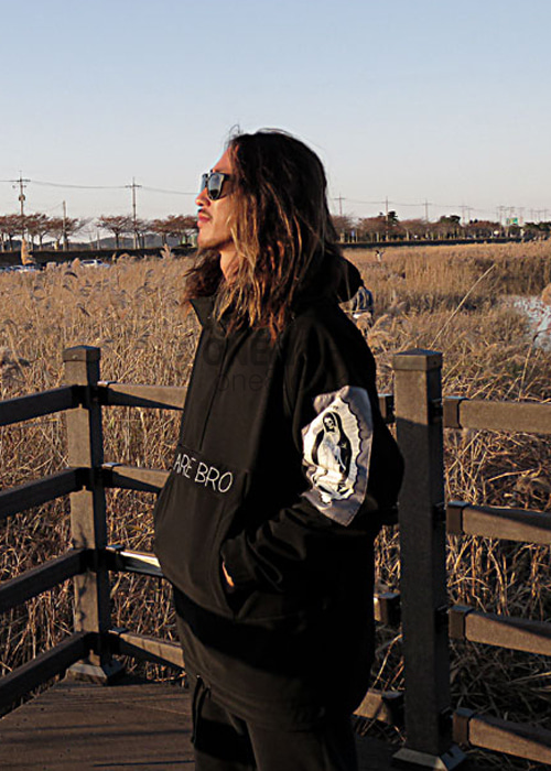 위아브로 아노락 자켓 (방수)#RWA701BK / BLACK 1718 WE ARE BRO TEAM-PARKA ANORAK
