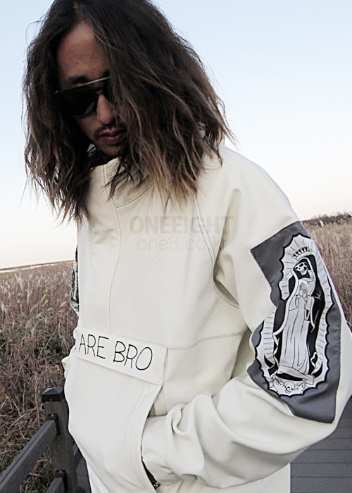 위아브로 아노락 자켓 (방수)#RWA701WH / WHITE 1718 WE ARE BRO TEAM-PARKA ANORAK