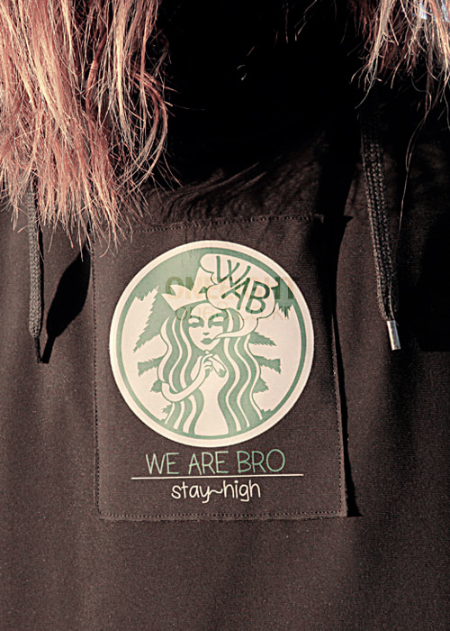 위아브로 후드/후디 (방수)#RWA703BK / BLACK 1718 WE ARE BRO S BUCK HOODIE2