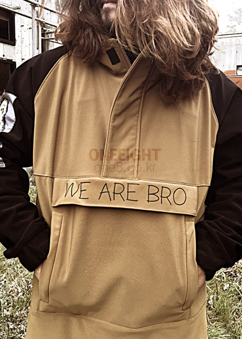 위아브로 아노락 자켓 (방수)#RWA701BW / BROWN 1718 WE ARE BRO TEAM-PARKA ANORAK