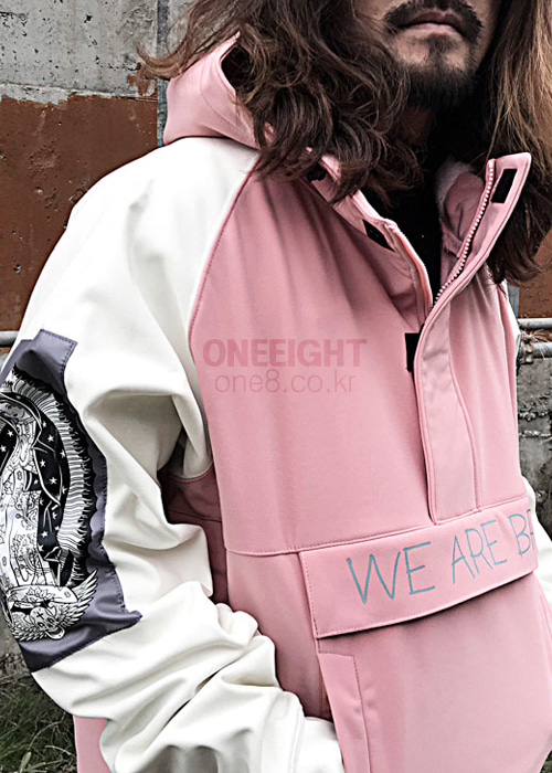 위아브로 아노락 자켓 (방수)#RWA701PE / PEACH 1718 WE ARE BRO TEAM-PARKA ANORAK