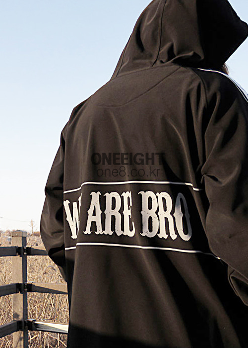 위아브로 후드/후디 (방수)#RWA702BK / BLACK 1718 WE ARE BRO ENJOYWEED HOODIE1