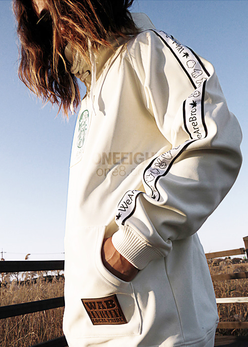 위아브로 후드/후디 (방수)#RWA703WH / WHITE 1718 WE ARE BRO S BUCK HOODIE2