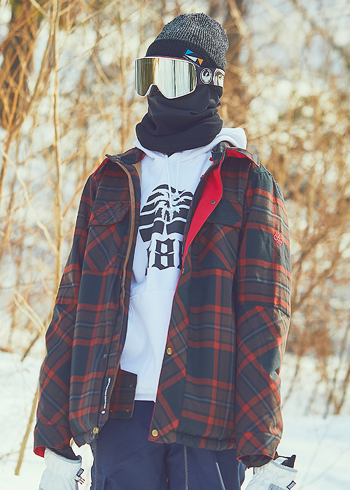 육팔육/686 보드복 우드랜드 인슐 자켓 #769809RE / RUSTY RED YARN DYE PLAID 1819 686 WOODLAND INSULATED JACKET