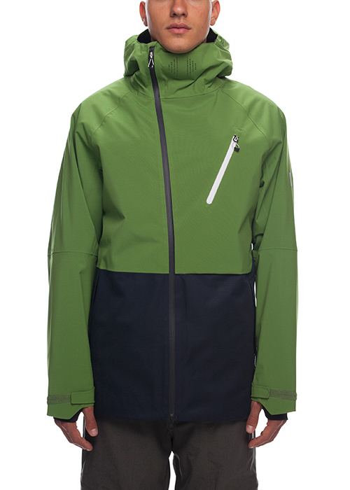 육팔육/686 보드복 GLCR 하이드라 자켓 #769805GR / CAMP GREEN COLORBLOCK 1819 686 HYDRA GLCR THERMAGRAPH JACKET
