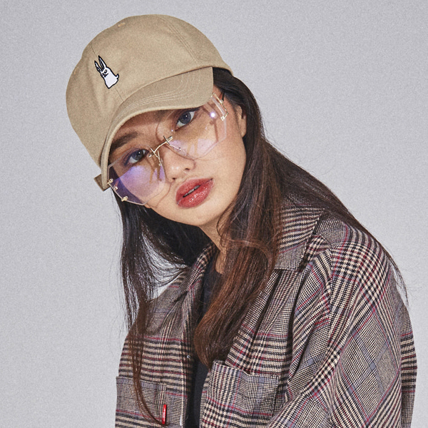 비에스래빗 스트랩백 모자 방수 #IBS803BY / BEIGE 1819 BSRABBIT GR WATERPROOF OXFORD STRAPBACK