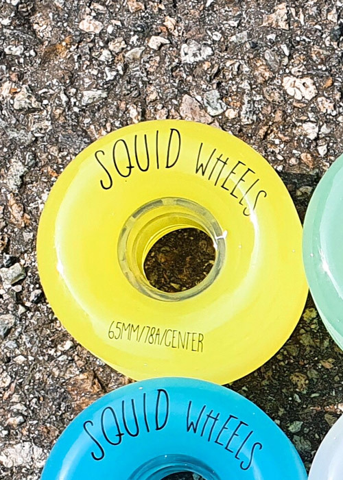 스퀴드 롱보드 휠/바퀴 65MM_SQUID_GELATIN WHEELS 65MMR_NEON YELLOW_XID701YE_ZHID701YE