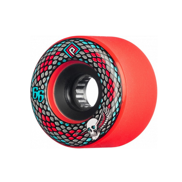 파웰 스케이트보드 휠/바퀴 66mm /POWELL Snakes Wheels Red 66mm 75a_XPU701RE_ZHPU701RE