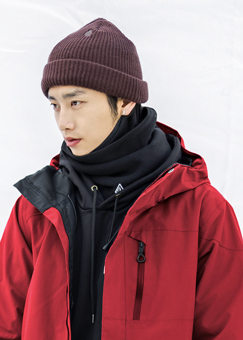 볼컴 스윕 라인 비니_모자_1920 VOLCOM SWEEP LINED BEANIE_BRD  [BLACK RED]_(J5852000)_IV5901YH [11]