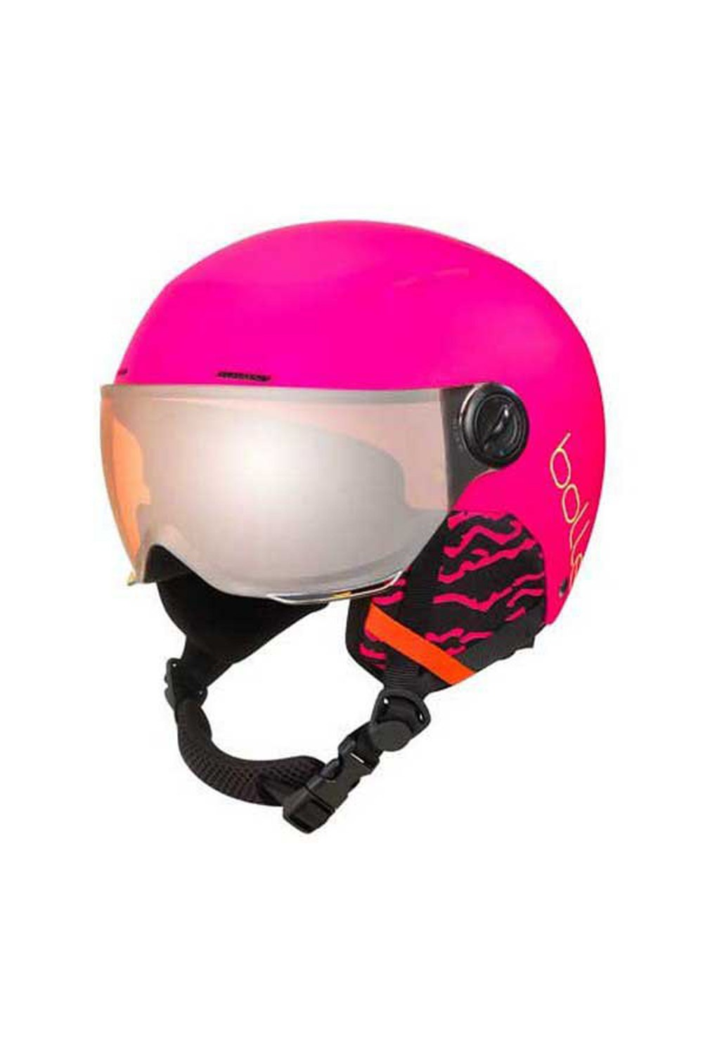 볼레 주니어 헬멧 퀴즈 바이저_1920 BOLLE_QUIZ 어린이 VISOR MATTE HOT PINK WITH ORANGE GUN VISOR CAT 2_F0B905PK_DF0B905PK