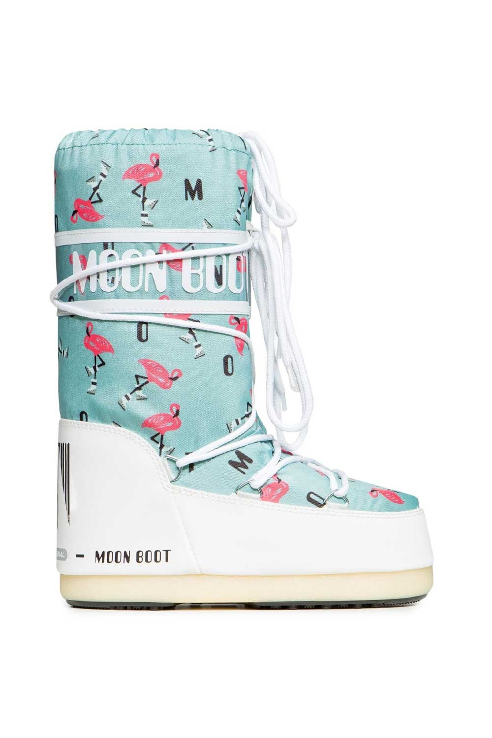 문부츠 키즈 방한부츠 JR 걸 플라밍고_MOONBOOT YOUTH MOON BOOT JR GIRL FLAMINGO_WHITE/LIGHT GREEN_VMQ873WH_AVMQ873WH