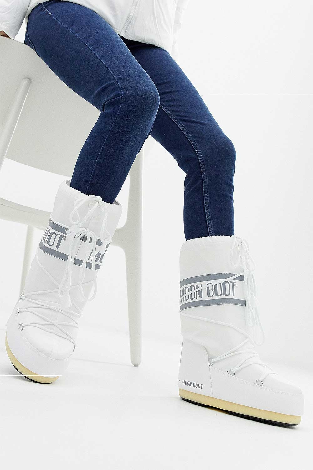 문부츠 여성 방한부츠 나일론 5MQ887WH / WHITE MOONBOOT WMS MOON BOOT NYLON_A6MQ887WH