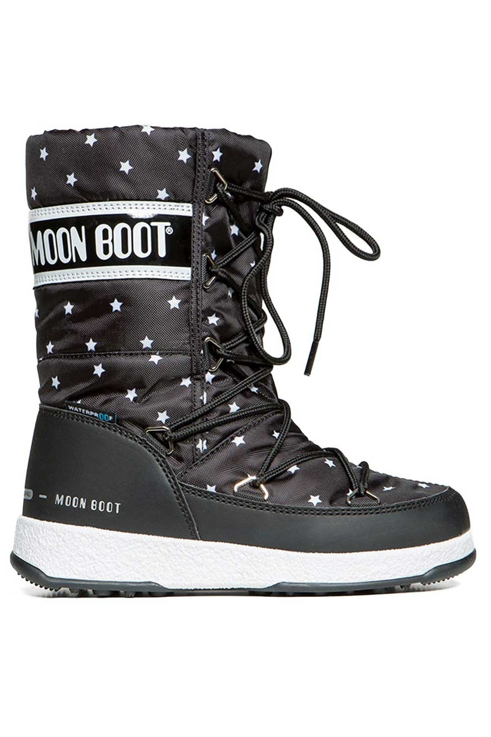 문부츠 키즈 방한부츠 JR 걸 퀼티드 스타 WP_MOONBOOT YOUTH MOON BOOT JR GIRL QUILTED STAR WP_BLACK/WHITE_VMQ863BE_AVMQ863BE