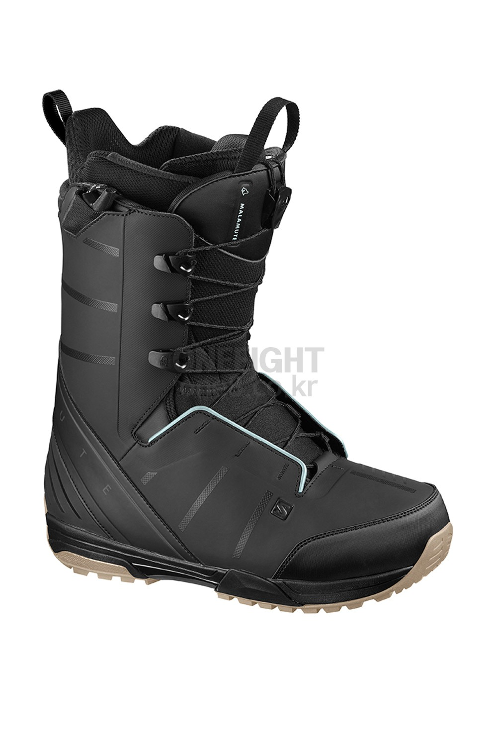 2021 살로몬 부츠 말라뮤트 2021 SALOMON MALAMUTE_BLACK/BLACK/STERLING BLUE_라이딩_A5SA002BK